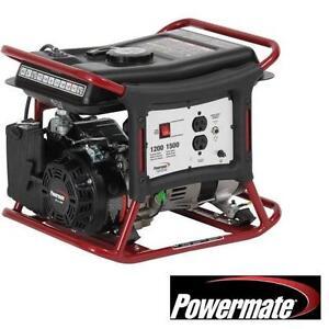 USED POWERMATE 98cc GAS GENERATOR 1200 WATT GAS POWERED GENERATORS PORTABLE COMPACT POWER TOOLS ELECTRICITY 105191321