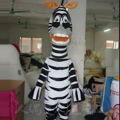 Marty Madagascar Halloween Costume (Halloween Madagascar 3 Marty Zebra Mascot Costume Cosplay Party Game Adults)
