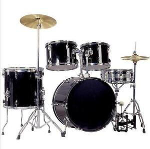brand new 5 pcs Drum Set including stool hihat stand pedal
