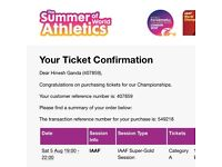 Men's 100m Final Category A Ticket. Usain Bolt!