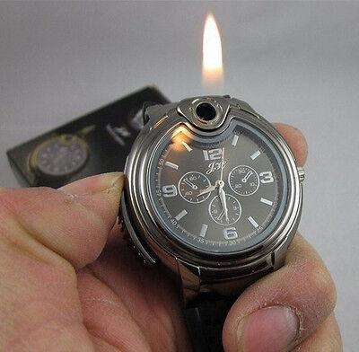 Mechanische Unisex Quarz Armbanduhr Uhr mit Feuerzeug Uhr Camping Militär NEU online kaufen