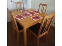 Ikea Oak Bjursta Extending Table 90-169cm FREE DELIVERY 761
