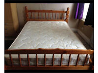 Pine Double Bed Excellent Condition