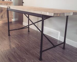 New Rustic Wood Top Dining Table (Delivery Available)
