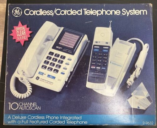 GE Deluxe Cordless/Corded Telephone System 10 Channel Autoscan