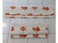 Pair of High Quality Handmade Floral Roman Blinds