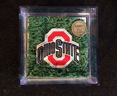 Ohio State Game Used Turf- Archie Griffin- Buckeyes National Championship Season Buckeyes Home Game