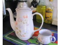 Denby Encore (Sherwood, White, Floral, 1984)
