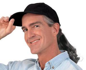 Men'S Cap With Fake Hair 58