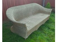 3 seater wicker chair