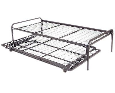Twin Size Metal Day Bed  Frame & Pop up Trundle with Great F