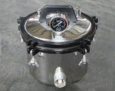 Safe Ce Fda 8l Steam Autoclave Sterilizer Dental Medical Pressure Pot 110v220v