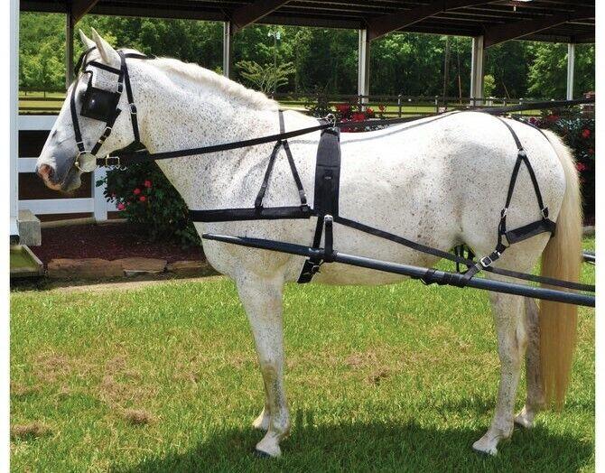 Horse Driving Harness - Black Nylon - Horse Size - Low Maintenance