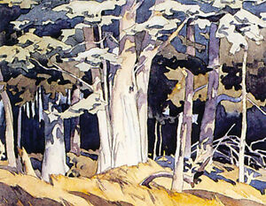"""A.J. Casson Publishers Proof """"Old Maple"""" Lithograph"""