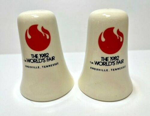 Vintage 1982 World's Fair Knoxville Tennessee Ceramic Salt Pepper Shakers