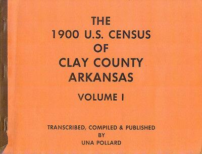 1900 U.S. Census Of Clay County Arkansas Volume 1 Genealogy Book 1983