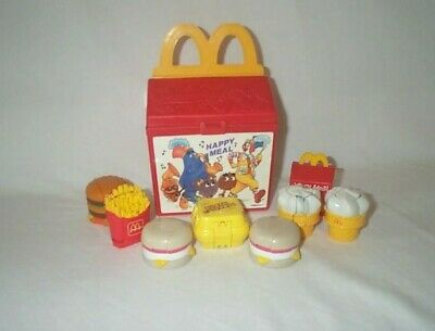 Vintage McDonalds Fisher Price Lunch Box & Food Transformers Changeables