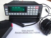ascom se550 transceiver 70mhz to 88mhz amateur radio modified to 4M band.