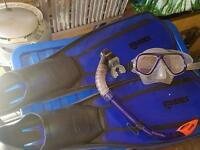 Snorkling Scooba diving kit mares