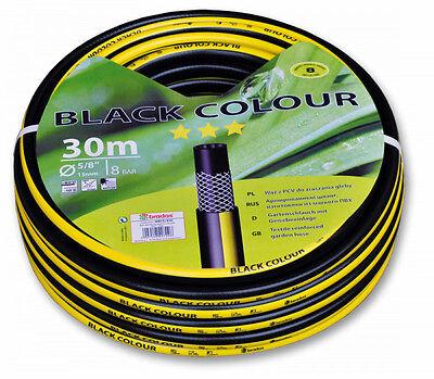 """Gartenschlauch 1/2 """" 50 m schwarz Qualitätsschlauch 3 Schichten Wasserschlauch"""