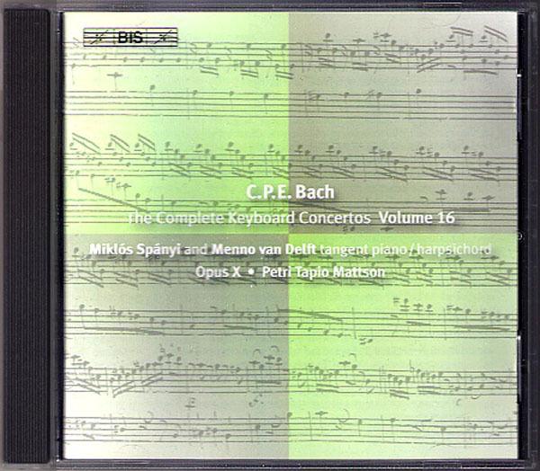 C.P.E. BACH Keyboard Concerto Vol.16 Miklos Spanyi BIS CD Carl Philipp Emaunel