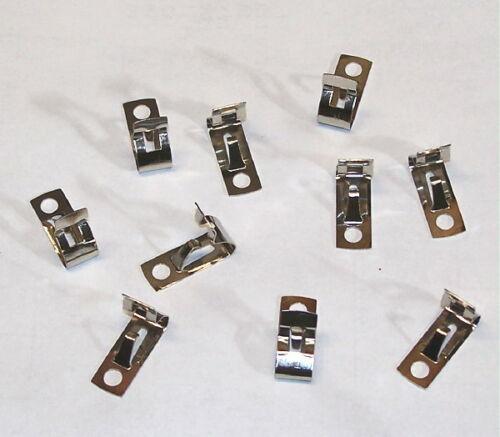 = LOOK = 10 PCS LOT fahnestock clips connector crystal - tube radio kit & repair
