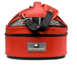 Sleepypod Mini Pet Travel Bed Dog/Cat in Strawberry Red