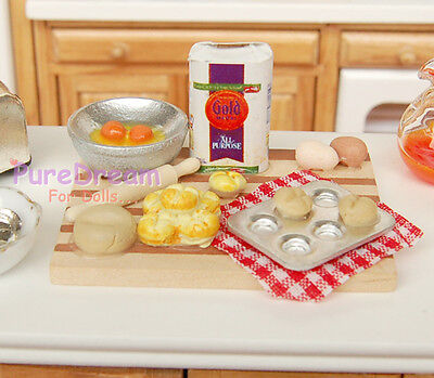Dollhouse kitchen ware food cake DIY board glued with the contents  FH025C