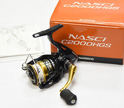 2016 NEW Shimano NASCI C2000HGS Spinning Reel