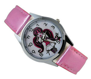 Monster-High-Draculaura-Girl-Child-Fashion-Watch-Xmas-Wrist-Xmas-Gift-DGL