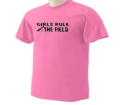 Adult Softball Girls Rule The Field Fast Pitch Ball Playing Sport Adult T-Shirt