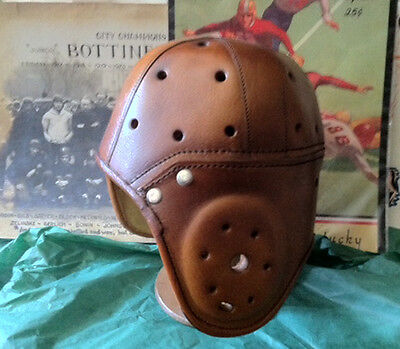 Heisman  trophy Leather Football helmet Legendary 1930 Fine Saddle Leather Adult