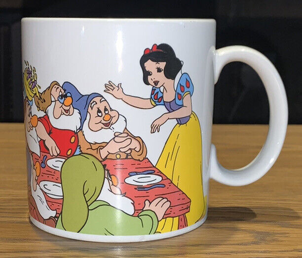 Vintage 1987 Applause Walt Disney 50th Anniversary Snow White Seven Dwarfs Mug