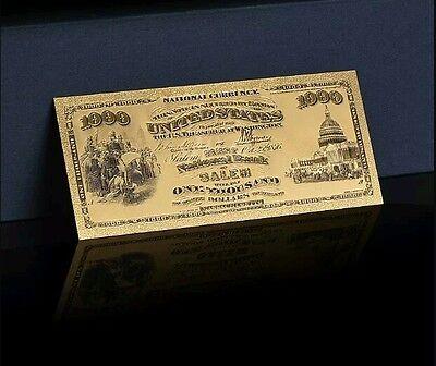 Gem 1875  Gold  1 000 1St National Bank Of Salem Banknote Awesome Detail