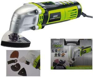 Genuine Draper Storm Force Oscillating Multi-Tool Kit Sander Scraper 400W 16061