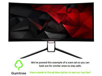 Acer X34A Predator Curved Monitor -- Read the ad description before replying!!