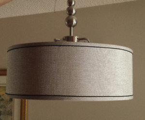 Ceiling light. Large drum style, suitable for modern dining room