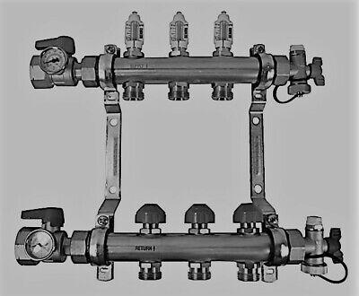 Rehau Stainless Steel Pro-balance Radiant Heat Manifold- 3 Circuit 381103-001