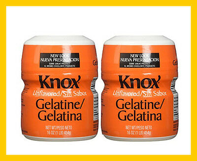 2x Knox Original Gelatin Unflavored 16 oz Cans
