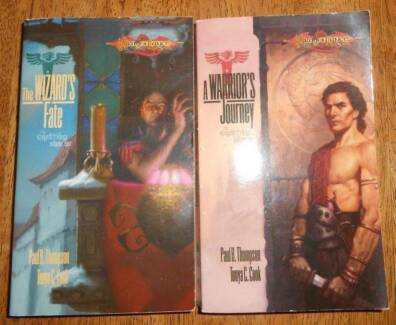 DRAGONLANCE ERGOTH TRILOGY A WARRIORs JOURNEY + THE WIZARDS FATE