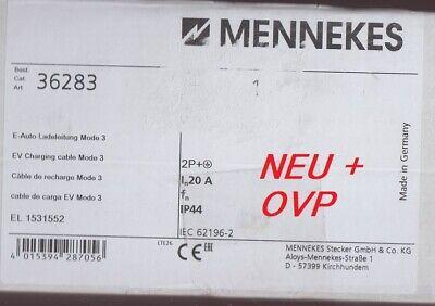 Mennekes 36283 E-Auto Ladekabel Mode 3 Typ2-Typ1, 20A - 7,5m NEU + OVP