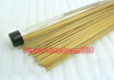 Brass Brazing Rod (10x Brass Rods Wires Sticks 1.6mm x 250mm For Repair Welding Brazing)