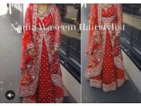 RED BARAATH/WALIMA WEDDING LENGHA