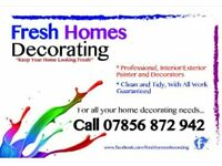 FRESH HOMES DECORATING Painting & Decorating Service