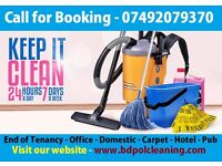 Professional Cleaning Services - End of Tenancy, Domestic, Office, Carpet Cleaning, Man and Van