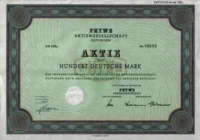 PHYWE Göttingen Duderstadt Hamburg Hannover 1962 + Gewinnanteilscheine 100 DM