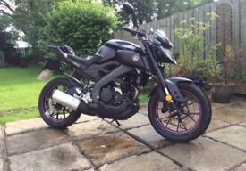 yamaha mt125 great condition low miles