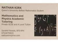 Mathematics Tuition / GCSE and A Level -- Nathan Kirk / Maths Tutor