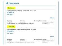 Return ticket to Los Angeles *DIRECT* from London Heathroe