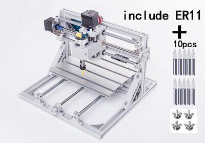 Bachin 3 Axis Mini Cnc 2418 Pcb Laser Engraving Milling Machine Er11 Router Kit